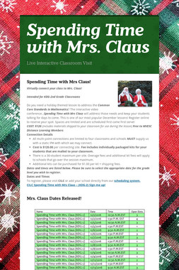 Spending Time with Mrs. Claus
