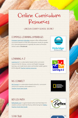 Online Curriculum Resources