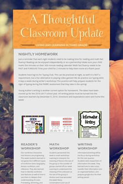 A Thoughtful Classroom Update