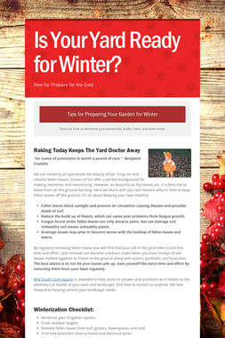 Is Your Yard Ready for Winter?