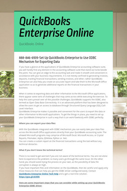 QuickBooks Enterprise Online