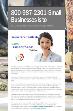 800-987-2301-Small Businesses is to