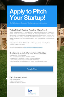 Apply to Pitch Your Startup!