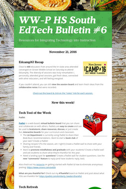 WW-P HS South EdTech Bulletin #6