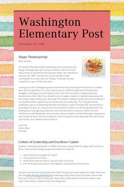 Washington Elementary Post