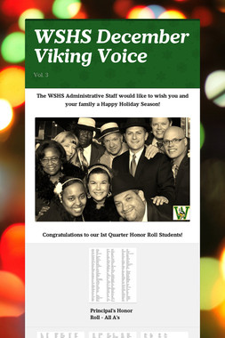 WSHS December Viking Voice