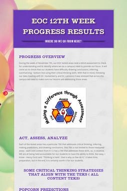 EOC 12th Week Progress Results