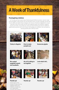 A Week of Thankfulness