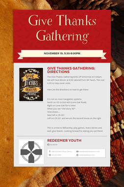 Give Thanks Gathering