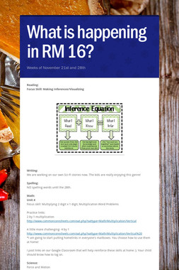 What is happening in RM 16?