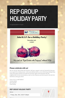 REP GROUP HOLIDAY PARTY