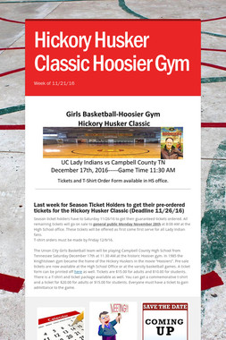 Hickory Husker Classic Hoosier Gym