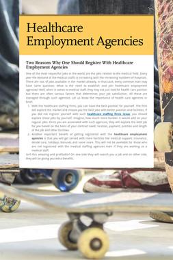 Healthcare Employment Agencies