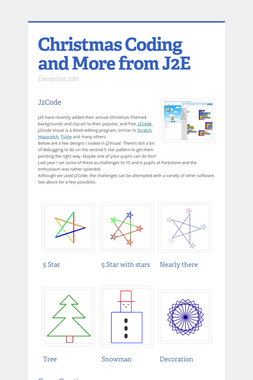 Christmas Coding and More from J2E