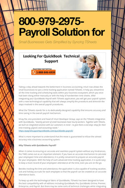 800-979-2975-Payroll Solution for