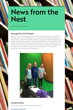 News from the Nest