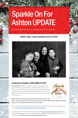 Sparkle On For Ashton UPDATE