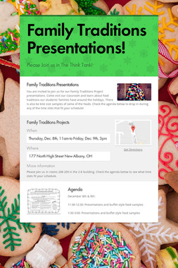 Family Traditions Presentations!