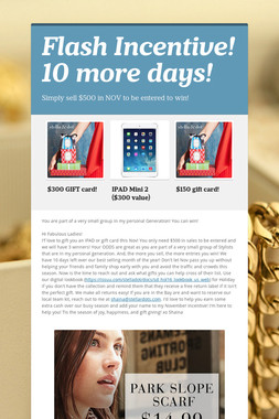 Flash Incentive! 10 more days!