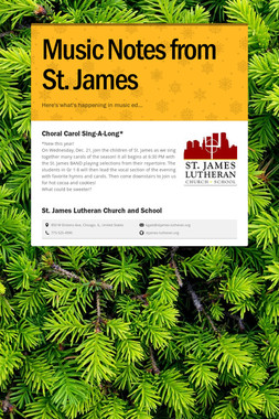 Music Notes from St. James