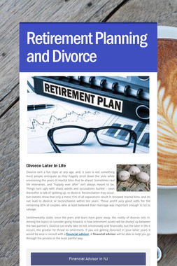 Retirement Planning and Divorce