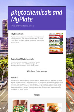 phytochemicals and MyPlate