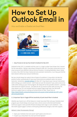 How to Set Up Outlook Email in