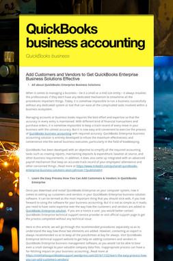 QuickBooks business accounting