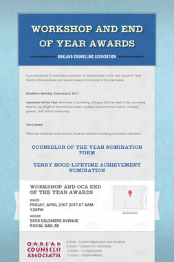 Workshop and End of Year Awards