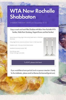 WTA New Rochelle Shabbaton