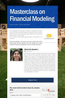 Masterclass on Financial Modeling