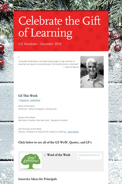 Celebrate the Gift of Learning