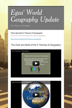 Egas' World Geography Update