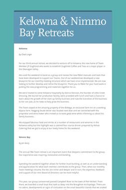 Kelowna & Nimmo Bay Retreats