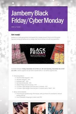 Jamberry Black Friday/Cyber Monday