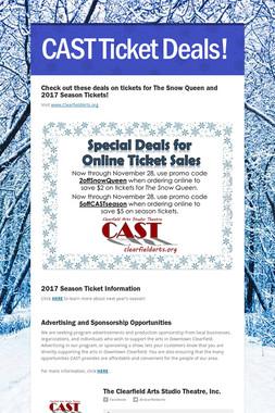 CAST Ticket Deals!