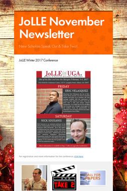 JoLLE November Newsletter