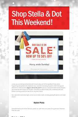 Shop Stella & Dot This Weekend!