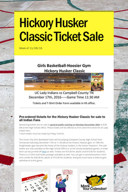 Hickory Husker Classic Ticket Sale
