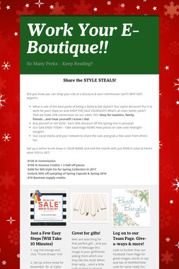 Work Your E-Boutique!!
