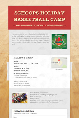 SGhoops Holiday Basketball Camp