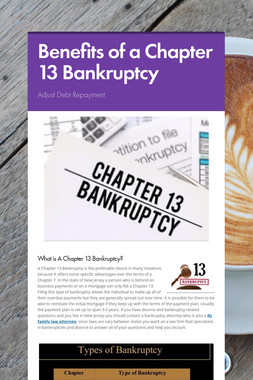 Benefits of a Chapter 13 Bankruptcy