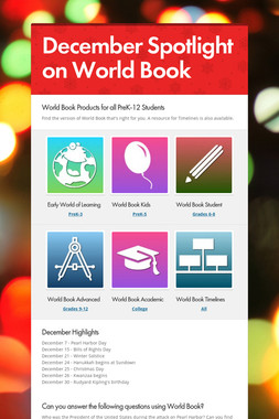 December Spotlight on World Book