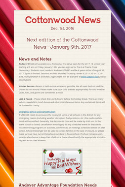 Cottonwood News