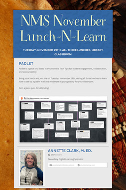 NMS November Lunch-N-Learn