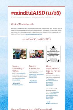#mindfulAISD (11/28)