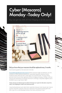 Cyber (Mascara) Monday -Today Only!