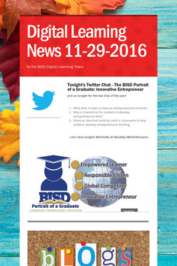Digital Learning News 11-29-2016