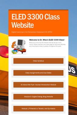 ELED 3300 Class Website