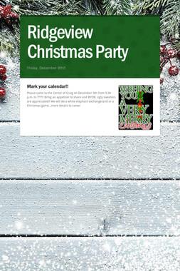 Ridgeview Christmas Party